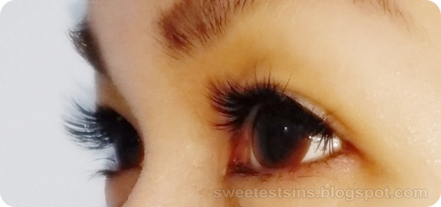 la belle eyelash extension close up