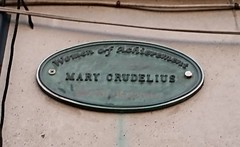 Photo of Mary Crudelius bronze plaque
