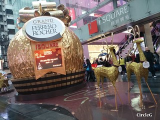 ISQUARE hongkong TST 尖沙咀 金莎 2015 CIRCLEG 聖誕裝飾 (1)