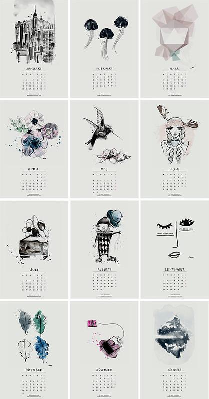 nyomtatható naptár ingyen Ingyen letölthető és nyomtatható naptárak 2016   panyizsuzsi blog  nyomtatható naptár ingyen