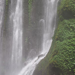 Bañándose en la cascada