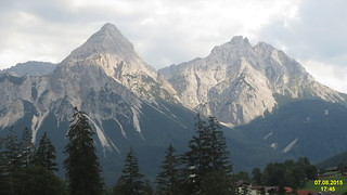 Sonnenspitz and Marienberg from Lermoos