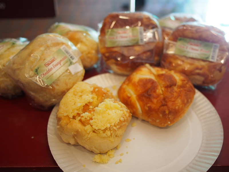 Cheddar Ensaymada and Ham and Cheese Bun