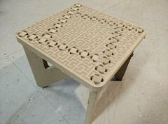 Binary tree foot stool with Hilbert curve