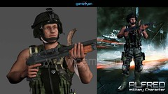 3D Military Man Character Modeling