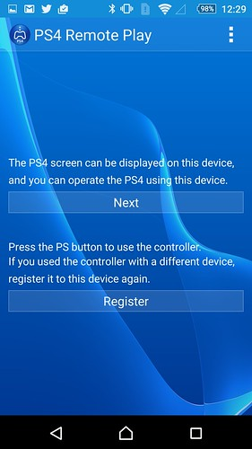 Sony Xperia Z5: Remote Play setup