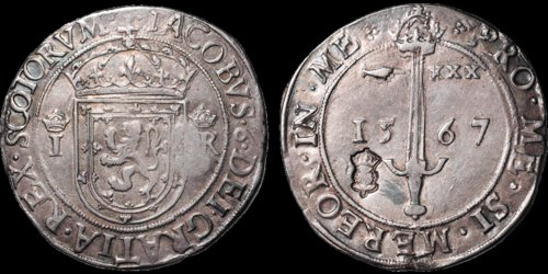 Lot 294 - 1567 James VI Ryal