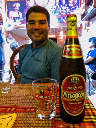 Battambang: une autre bonne bière, l'Angkor beer