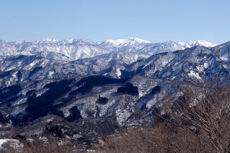 大倉岳からの峰々
