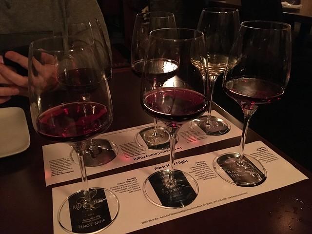 Pinot Noir Staff Picks flight - Willi's Wine Bar