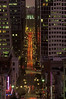 San Francisco downtown with city lights at twilight with downtown streets with car streaks California State USA