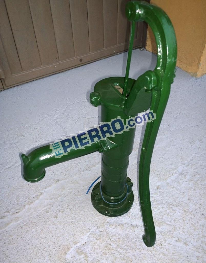 Pompa a mano pozzo decorativa ghisa fontana con leva colonna acqua manuale  eBay