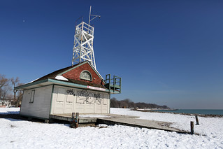 Image of Kew Beach. winter lake snow toronto ontario canada beach kew lifeguard balmy