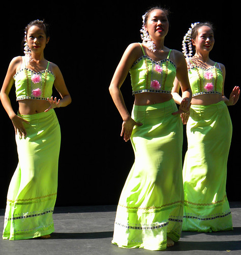Chinese Dancers at Performance Works on Granville Island in Vancouver, Canada