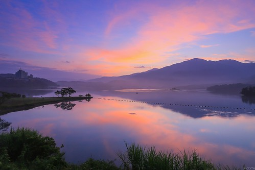 sunrise reflections dawn 日月潭 sunmoonlake 日出 倒影 出水口
