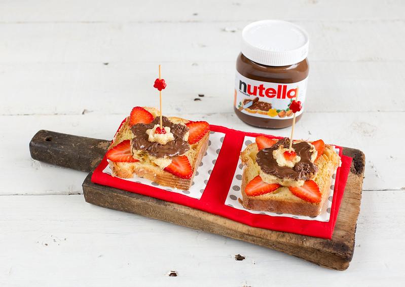 Ingrediente Nutella - Colomba di Pasqua con Nutella e fragole