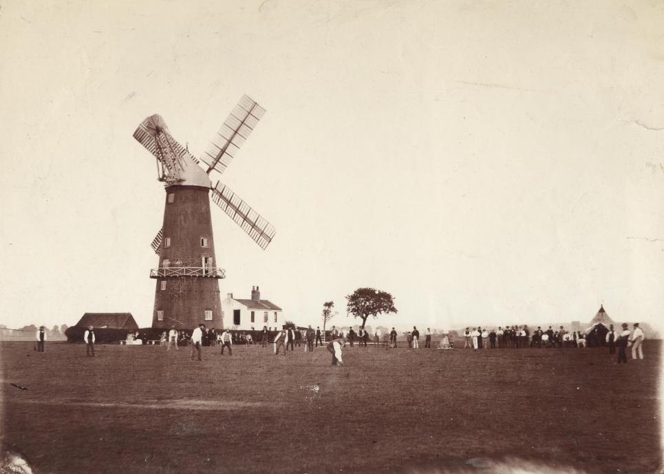 Cricket match on Beverley Westwood pre-1868 (archive ref PH-4-7)