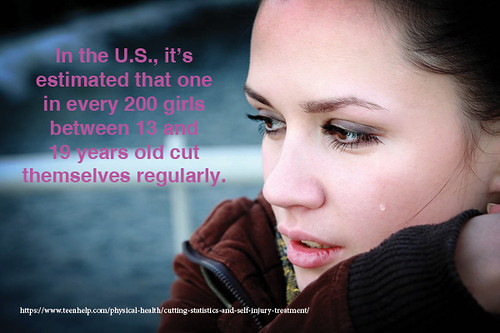 One in every 200 girls between 13 and 19 years old cut themselves regularly thumbnail
