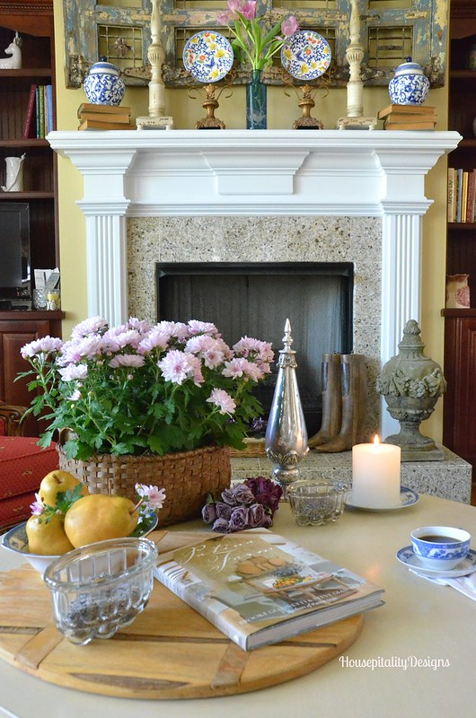 Great room table and mantel - Housepitality Designs