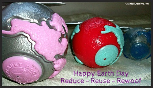 Happy Earth Day! Reduce - Reuse - Rewoof #PlanetDog #LapdogCreations @LapdogCreations