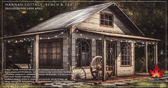 Trompe Loeil - Hannah Cottage, Bench & Table for Uber April