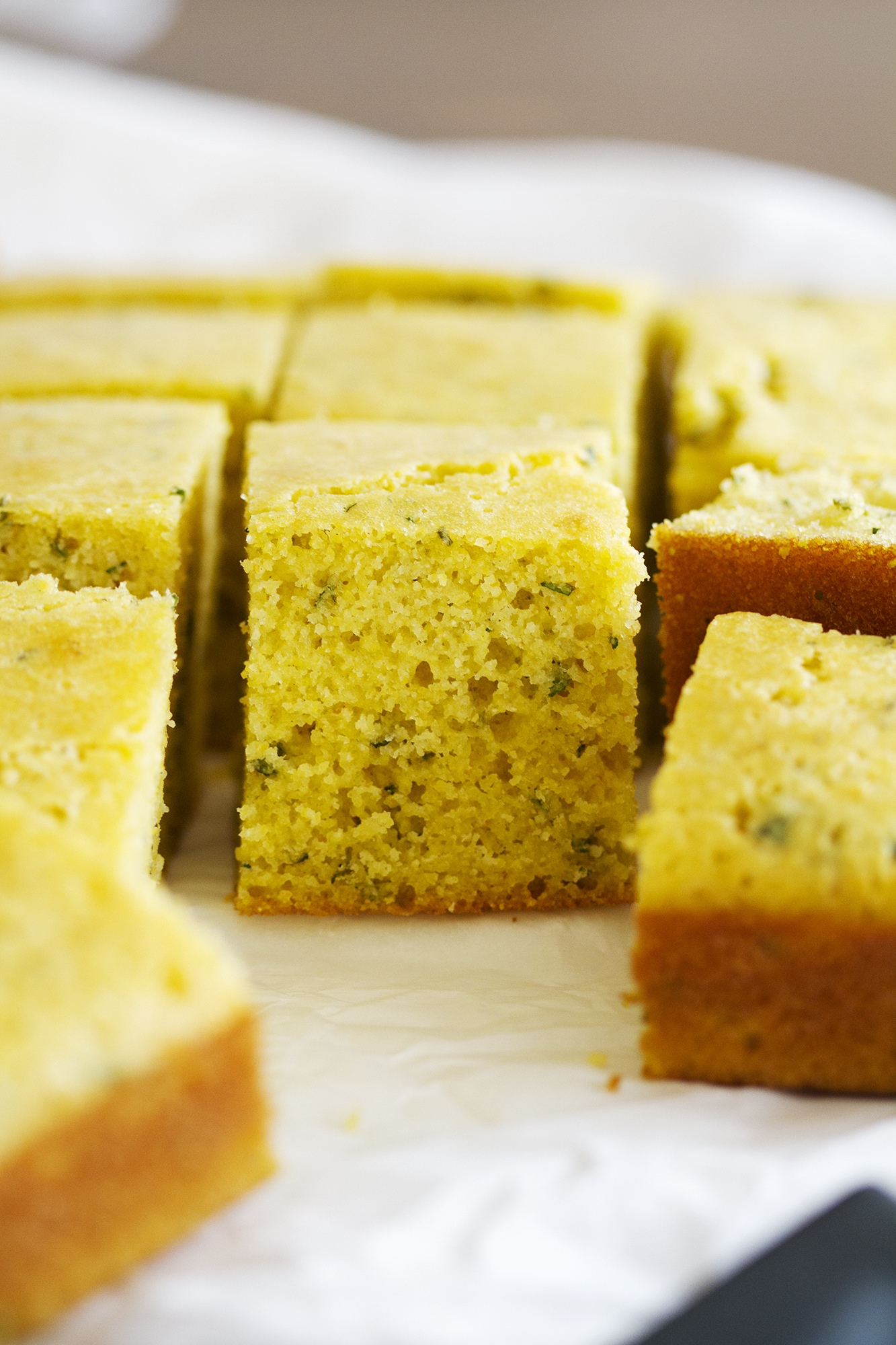 Herb Cornbread | girlversusdough.com @girlversusdough