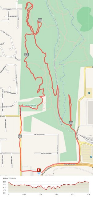 """Today""""s awesome walk, 4.4 miles in 2:04, 11,925 steps, 215ft gain"""