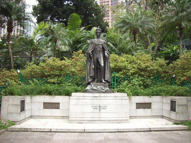 King George VI greets visitors of the gardens one of Hong Kong's Hidden Gems