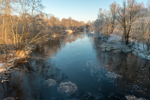 winter ice river frost