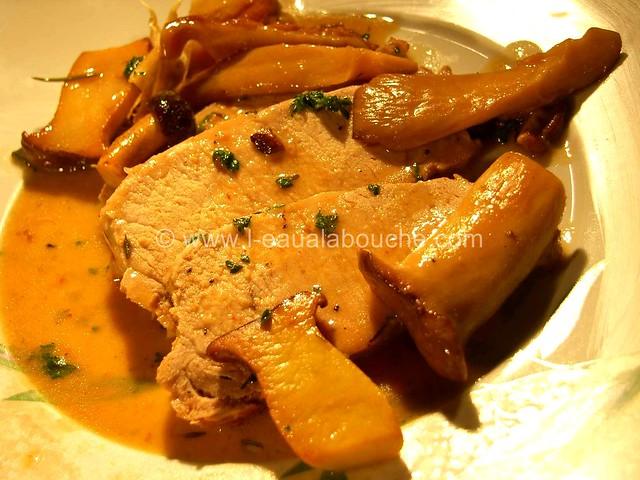 Rôti de Porc dans le  Cocotte  Champignons © Ana Luthi Tous droits réservés 008