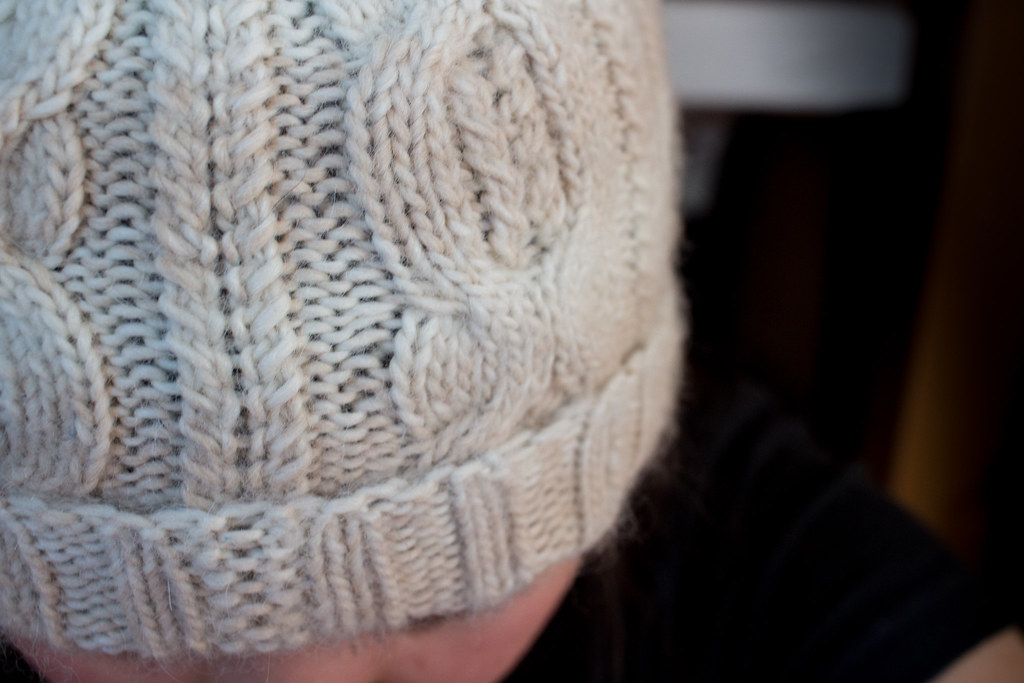 Alpaca hat detail