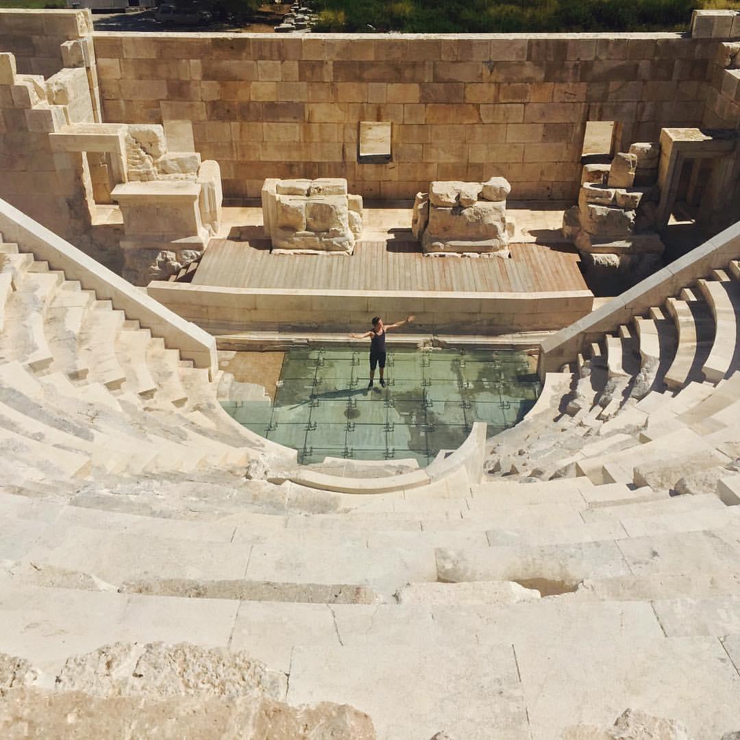 @timowilderness doing his Spanish opera thing at a restored amphitheater in the ancient Lycian city of Patara. He's got talent! #turkki #lycianway #patara #turkey #homeof #history #fun #funtimes #sailforgood @sailforgood