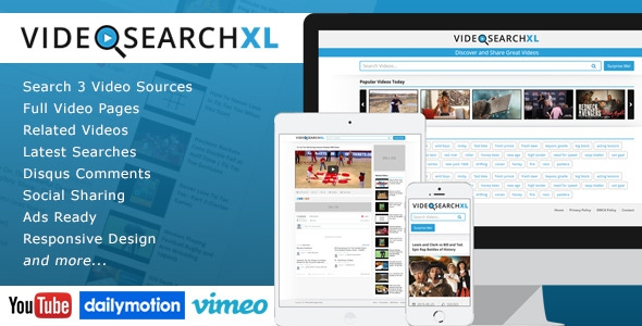 VideoSearchXL v1.4 - Multi Source Video Search Engine