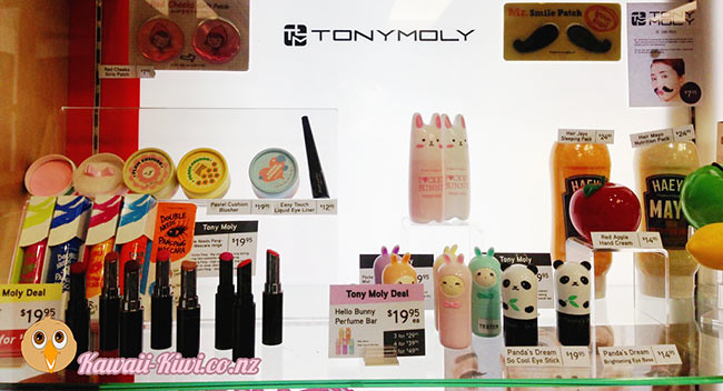 Cute TonyMoly hand-creams, solid perfumes and lip glosses at Cosmic in Wellington