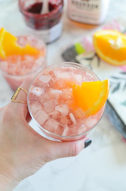 Raspberry Bourbon Smash