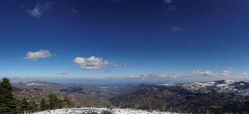 sky panorama clouds view greece korinthia trikala ziria mountkyllini