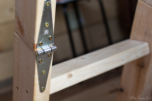 Loft ladder hinge