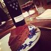 Dessert course: Queen of Sheba cake & port #valentinesweekend