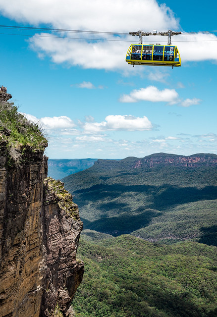 A lonely climber - Greater Blue Mountains Area, Australia (Unesco world heritage site)