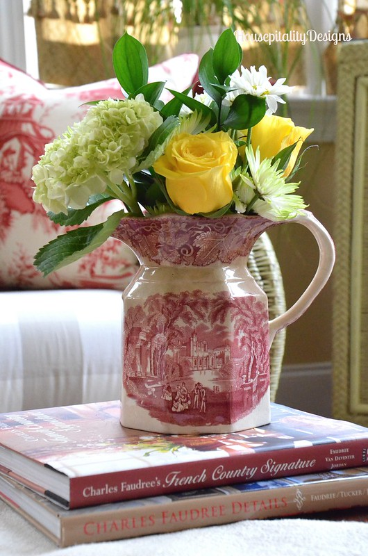 Red Transferware pitcher - Housepitality Designs