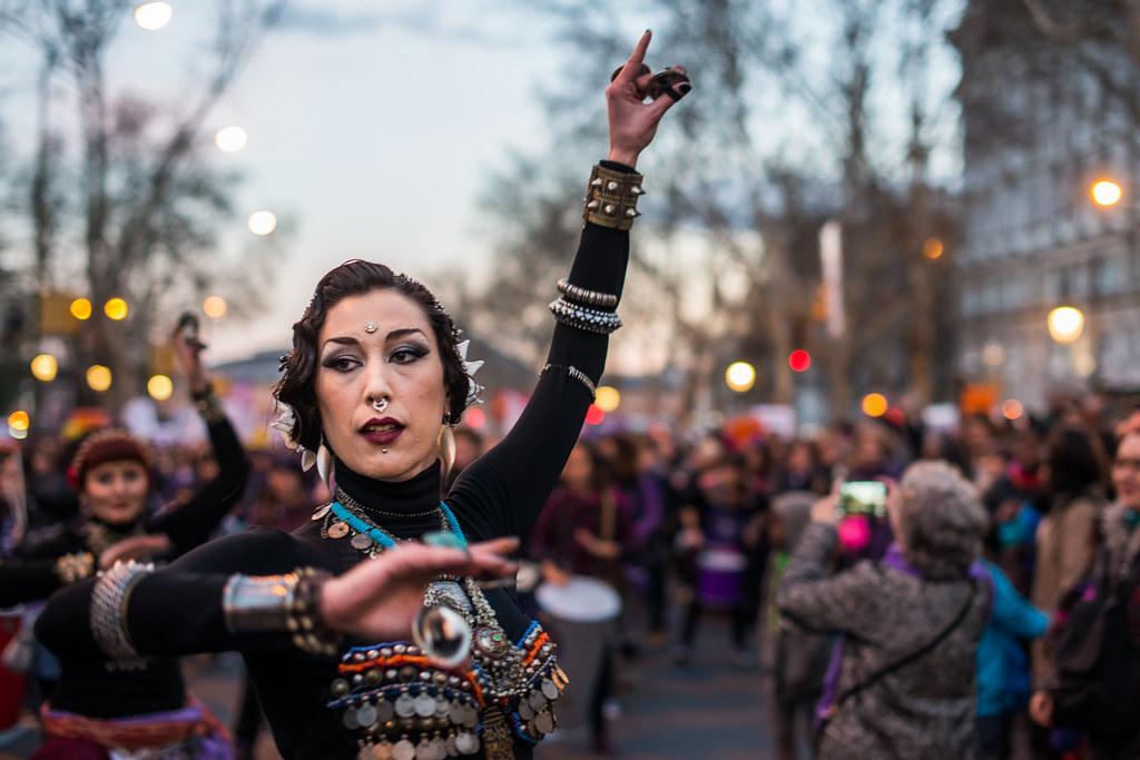 Demonstration for the rights of women on International Women's Day in Madrid / Manifestación por los derechos de las mujeres en el Día Internacional de la Mujer