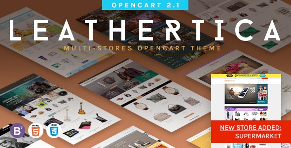 ThemeForest Leather v1.2 – Premium OpenCart 2.1.0.1 Themes Package