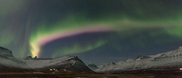 Northern lights in Faskrudsfjordur