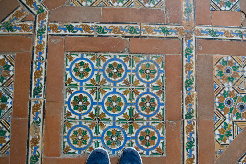 Tiles in the Alcazar of Seville, Spain | packmeto.com