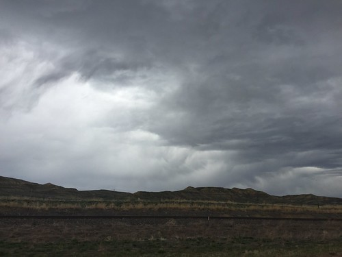 Super-dramatic clouds on the way from Sheridan, WY to Rapid City, SD