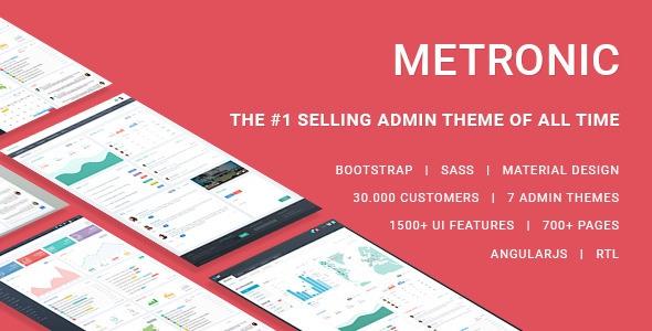 Metronic v4.5.6 – Responsive Admin Dashboard Template