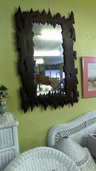 Rustic redwood mirror $295