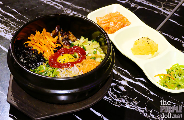 Free Bibimbap and banchan