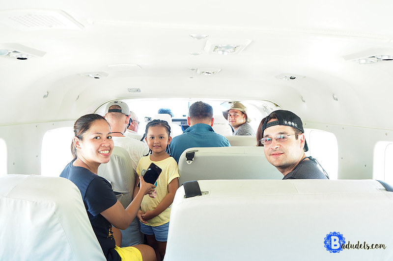 inside a 9-seater Air Juan Cessna plane