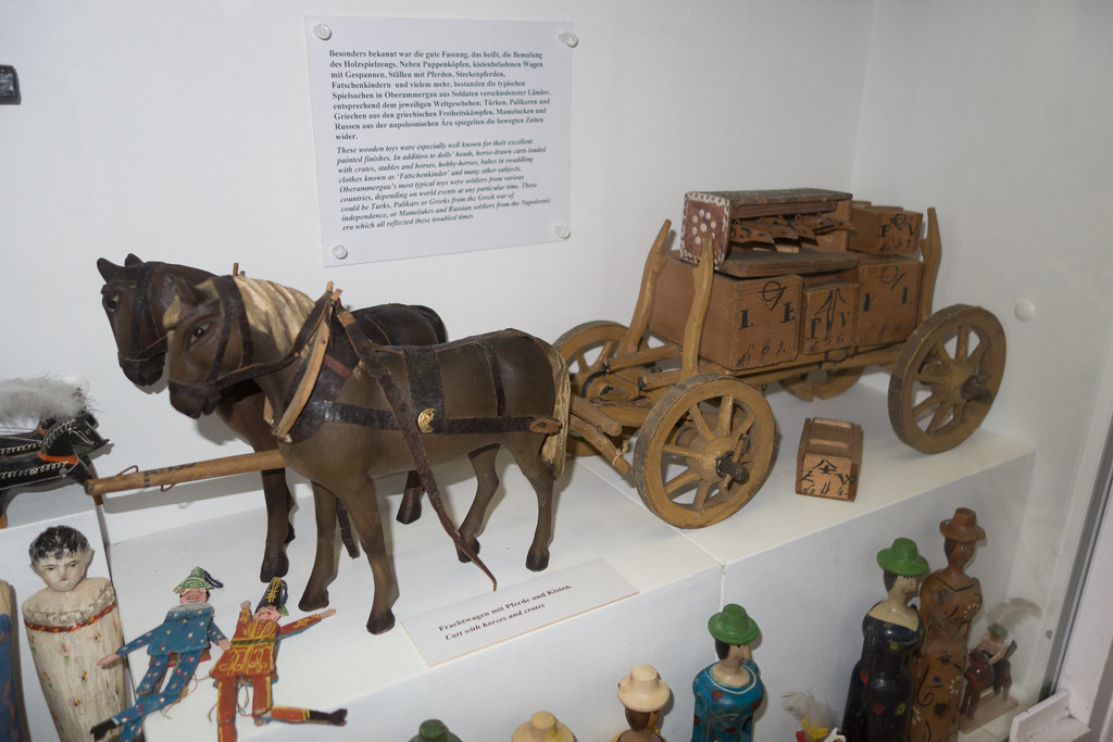 Antique Toy Wooden Wagon And Horses Munich 2014 Thomas Quine